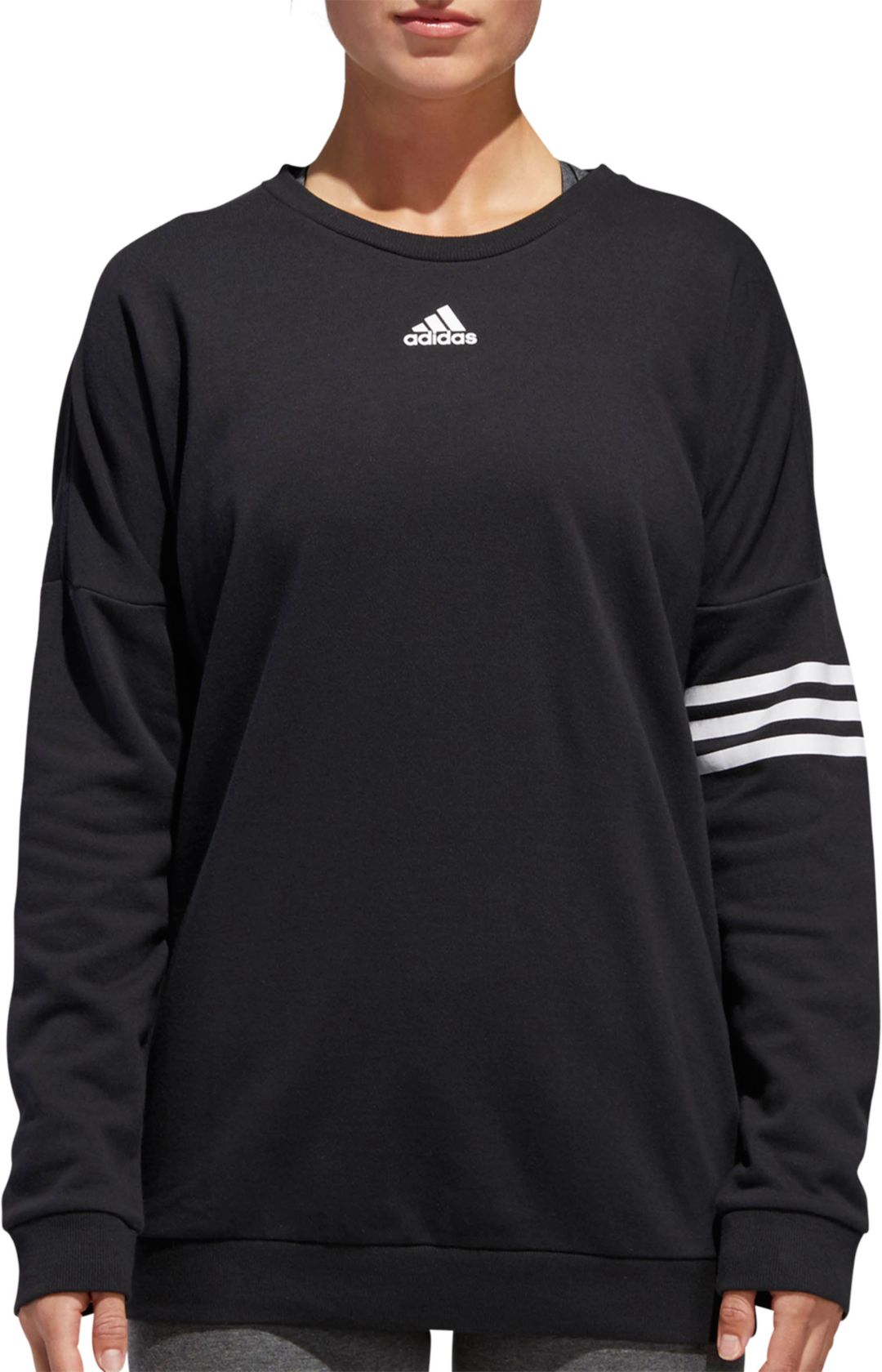 check out 1e5ee 0438e adidas Women's Athletics French Terry Crewneck Pullover