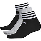adidas Women's 3-Stripe Low Cut Socks - 3 Pack