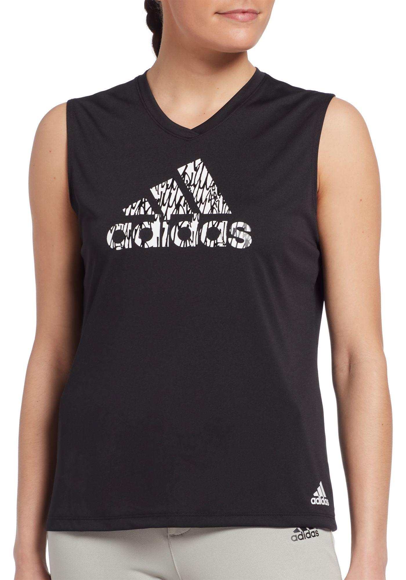 adidas Women's Sleeveless Softball Graphic T-Shirt