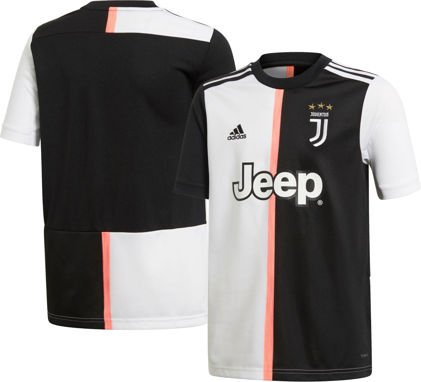 adidas Youth Juventus '19 Stadium Home Replica Jersey