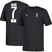 adidas Youth Juventus Cristiano Ronaldo #7 Black Player T-Shirt