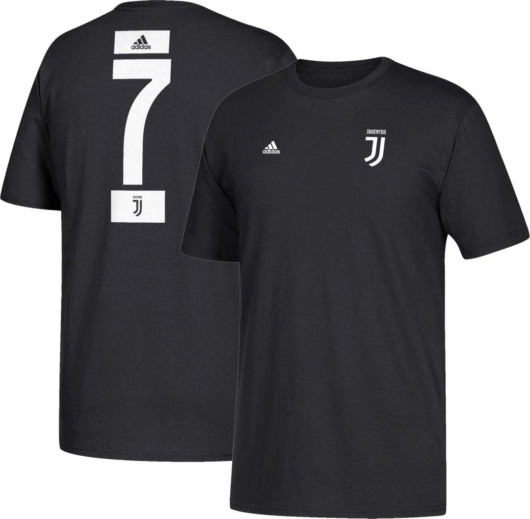 reputable site f3865 3ef62 adidas Youth Juventus Cristiano Ronaldo #7 Black Player T-Shirt