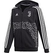 adidas Men's Juventus Black Full-Zip Hoodie