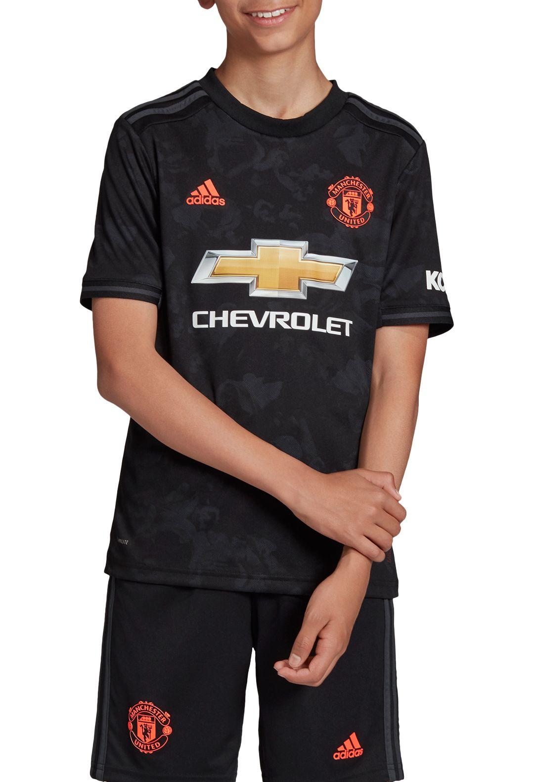 best service 1ae38 ebf18 adidas Youth Manchester United '19 Stadium Third Replica Jersey