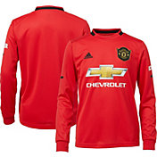 adidas Youth Manchester United '19 Stadium Home Replica Long Sleeve Jersey