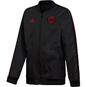 adidas Youth Manchester United Anthem Black Jacket