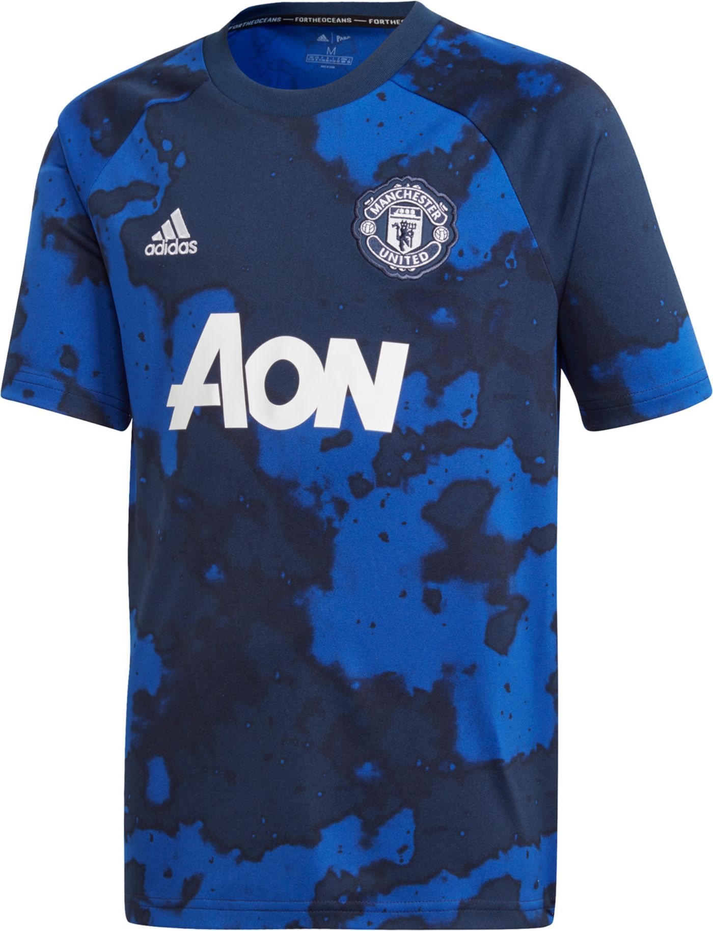 adidas Youth Manchester United Blue Preshirt