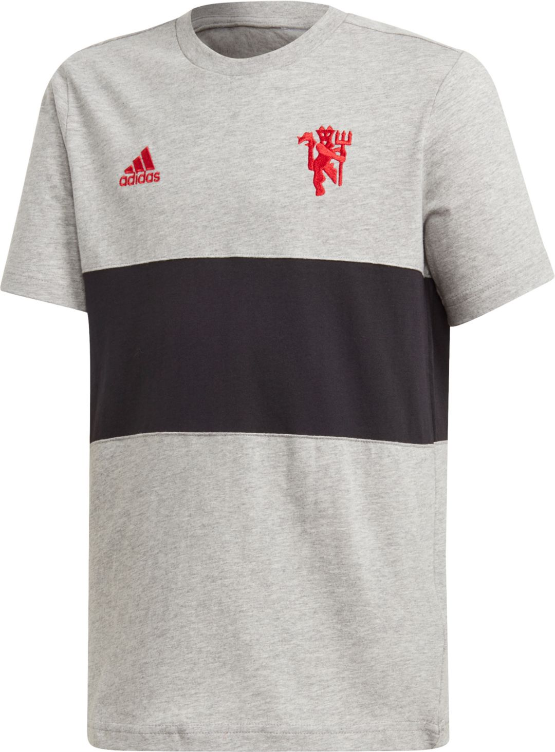 Adidas Youth Manchester United Dna Graphic Heather Grey T Shirt