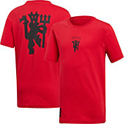 adidas Youth Manchester United Devil Red T-Shirt