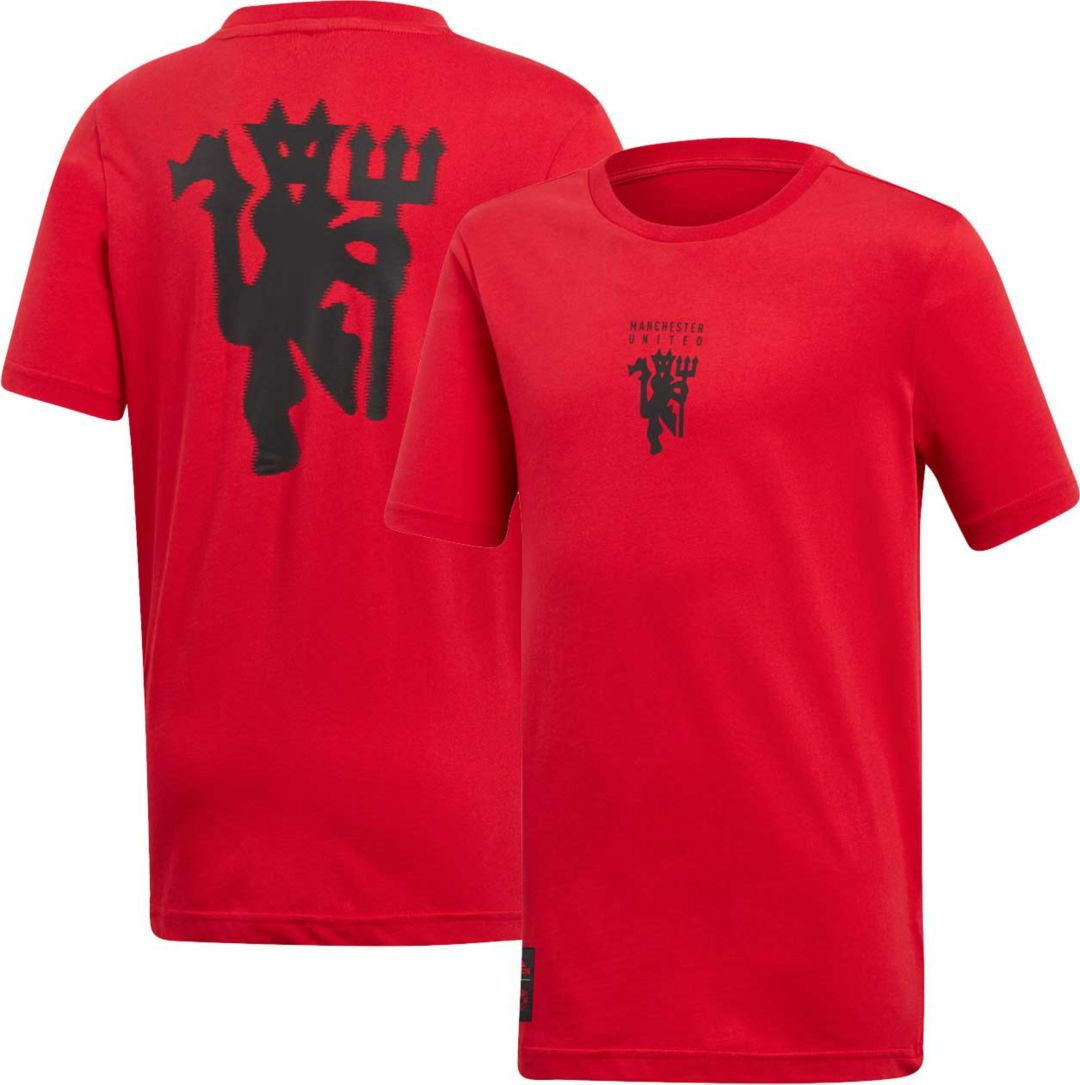 932b782fc adidas Youth Manchester United Devil Red T-Shirt   DICK'S Sporting Goods