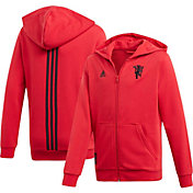 adidas Youth Manchester United Red Full-Zip Hoodie