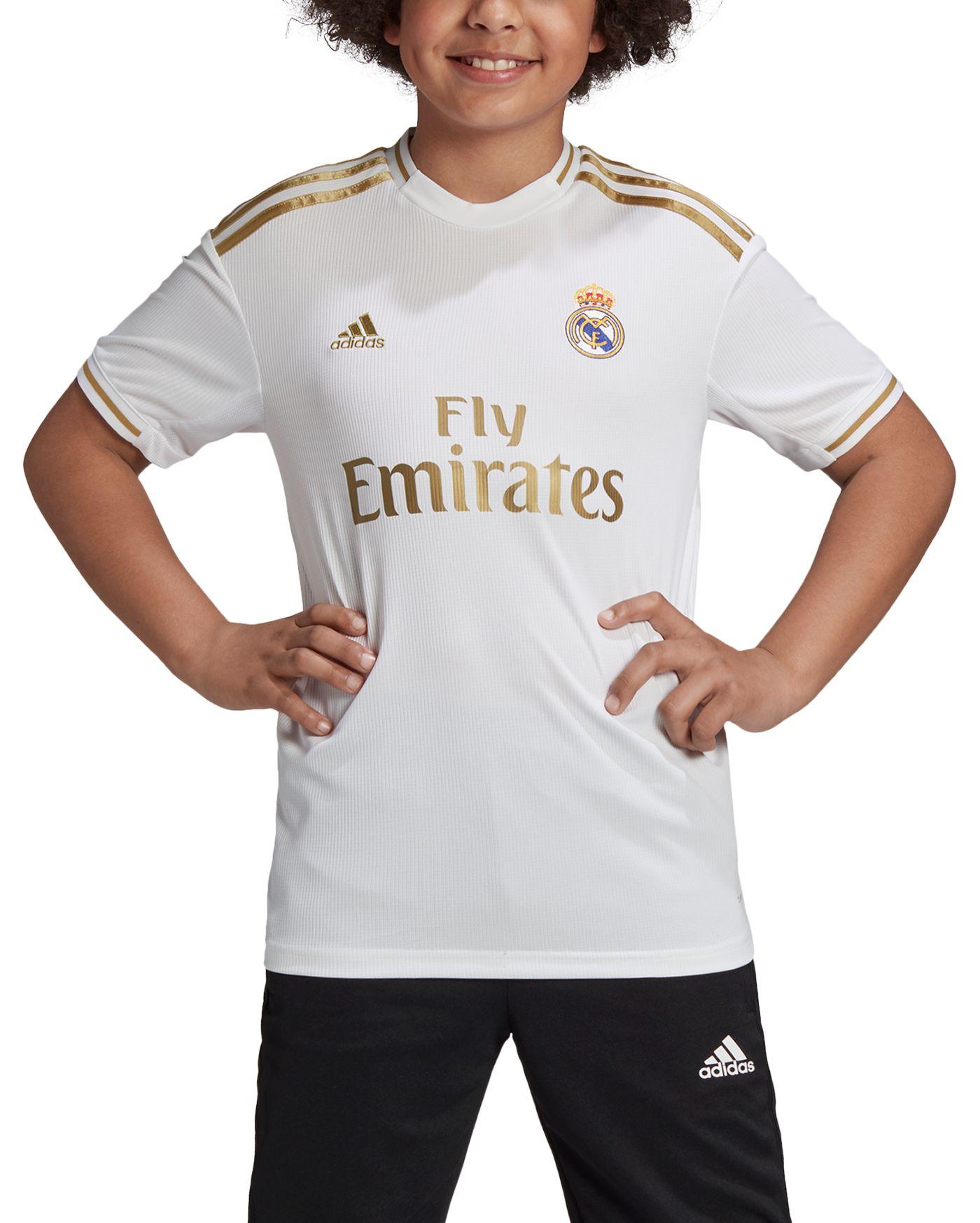 adidas Youth Real Madrid '19 Stadium Home Replica Jersey