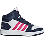 adidas Kids' Grade School Hoops 2.0 Mid Basketball Shoes
