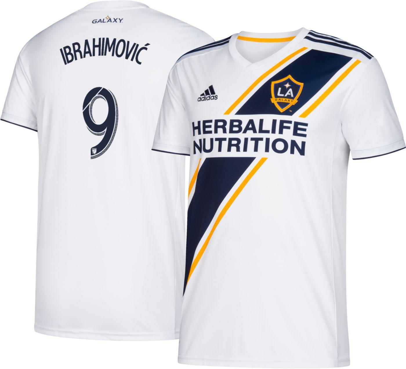 adidas Youth Los Angeles Galaxy Zlatan Ibrahimovic #9 Primary Replica Jersey