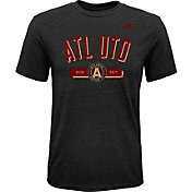 adidas Youth Atlanta United Friendly Black Heathered Tri-Blend T-Shirt