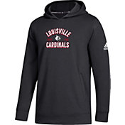 adidas Youth Louisville Cardinals Arch Pullover Black Hoodie