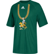 adidas Youth Miami Hurricanes Green 'Turnover Chain' Football T-Shirt
