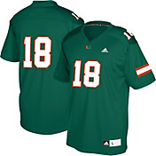 adidas Youth Miami Hurricanes Green #18 Replica Football Jersey