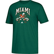 adidas Youth Miami Hurricanes Green Performance T-Shirt