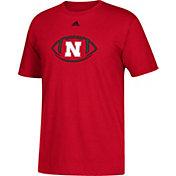 adidas Youth Nebraska Cornhuskers Scarlet Sideline Spiral Football T-Shirt