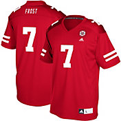 adidas Youth Scott Frost Nebraska Cornhuskers Scarlet #7 Replica Football Jersey