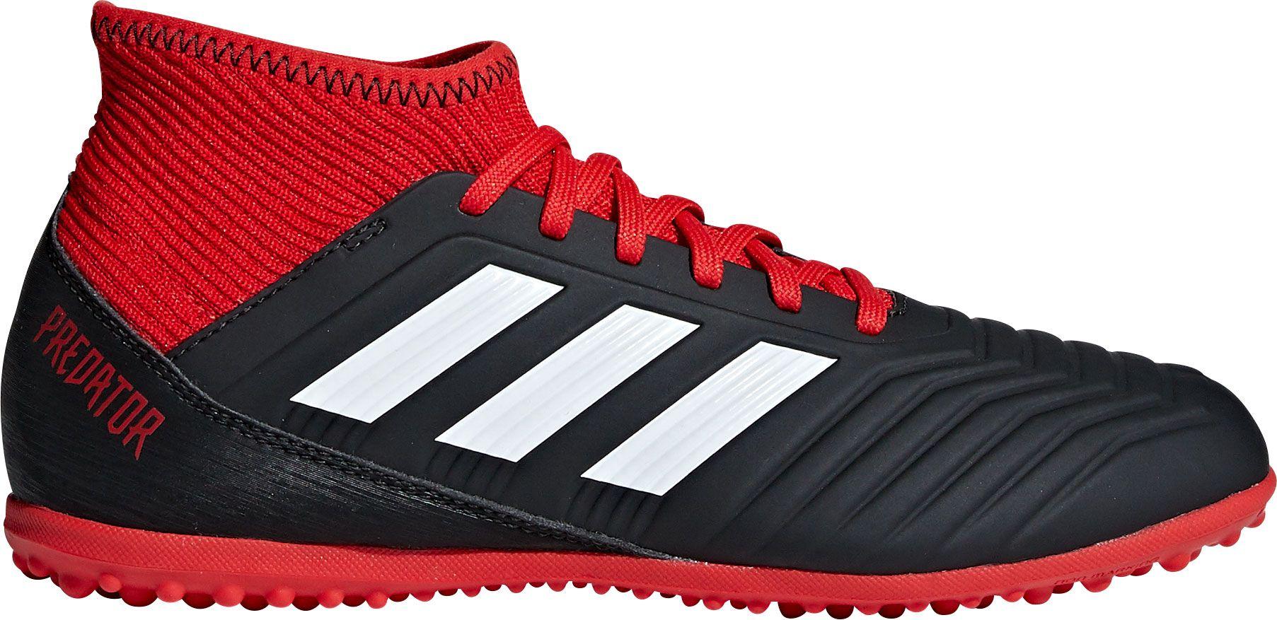 adidas Kids' Predator Tango 18.3 Turf Soccer Cleats, Kids Unisex, Size: 1.5, Black