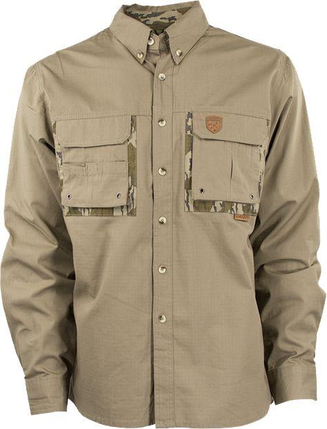 GameKeepers Men's Dirt Shooting Shirt, Size: Medium, Brown