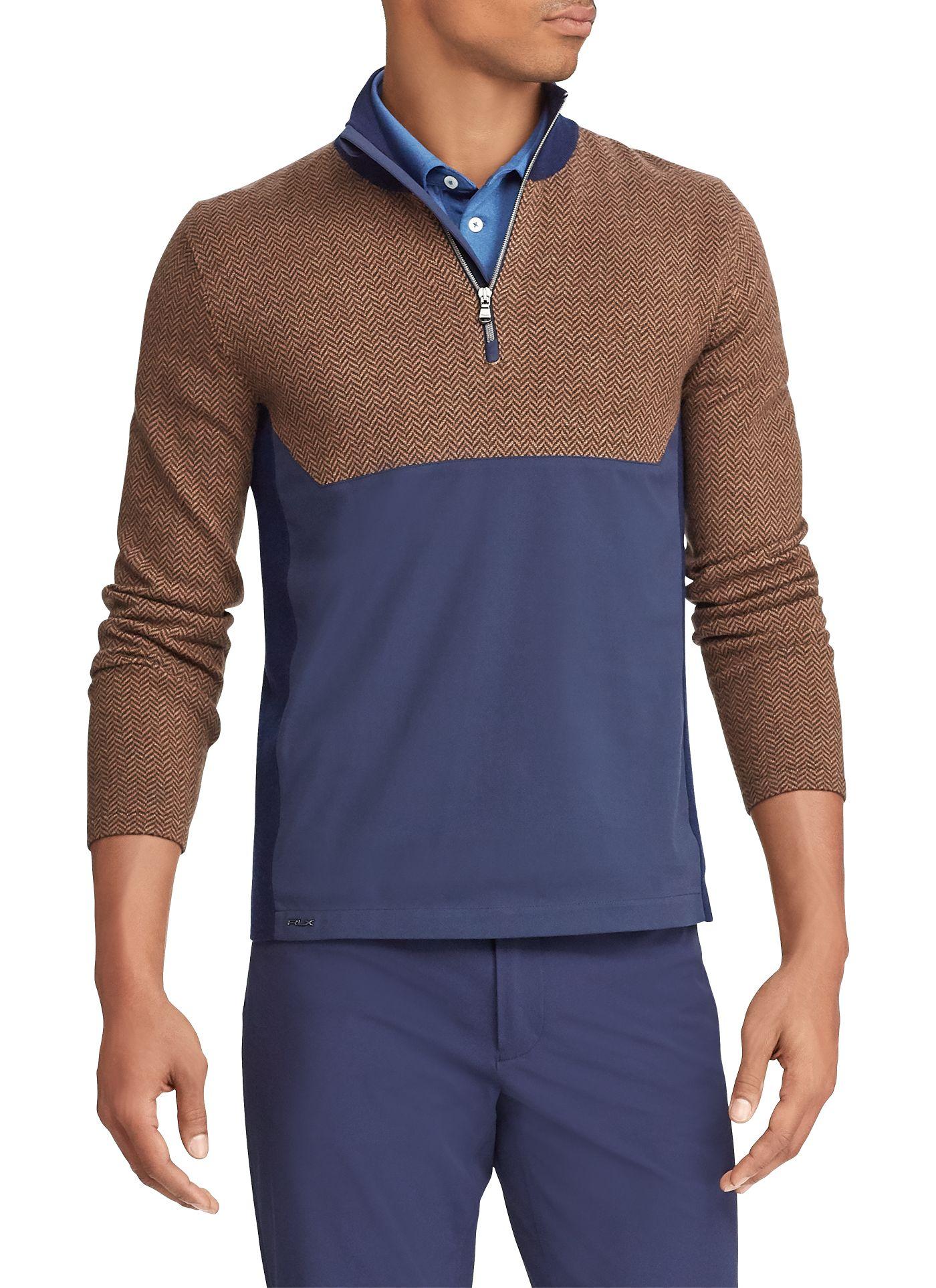 RLX Golf Men's Hybrid Sweater ¼ Zip Golf Pullover
