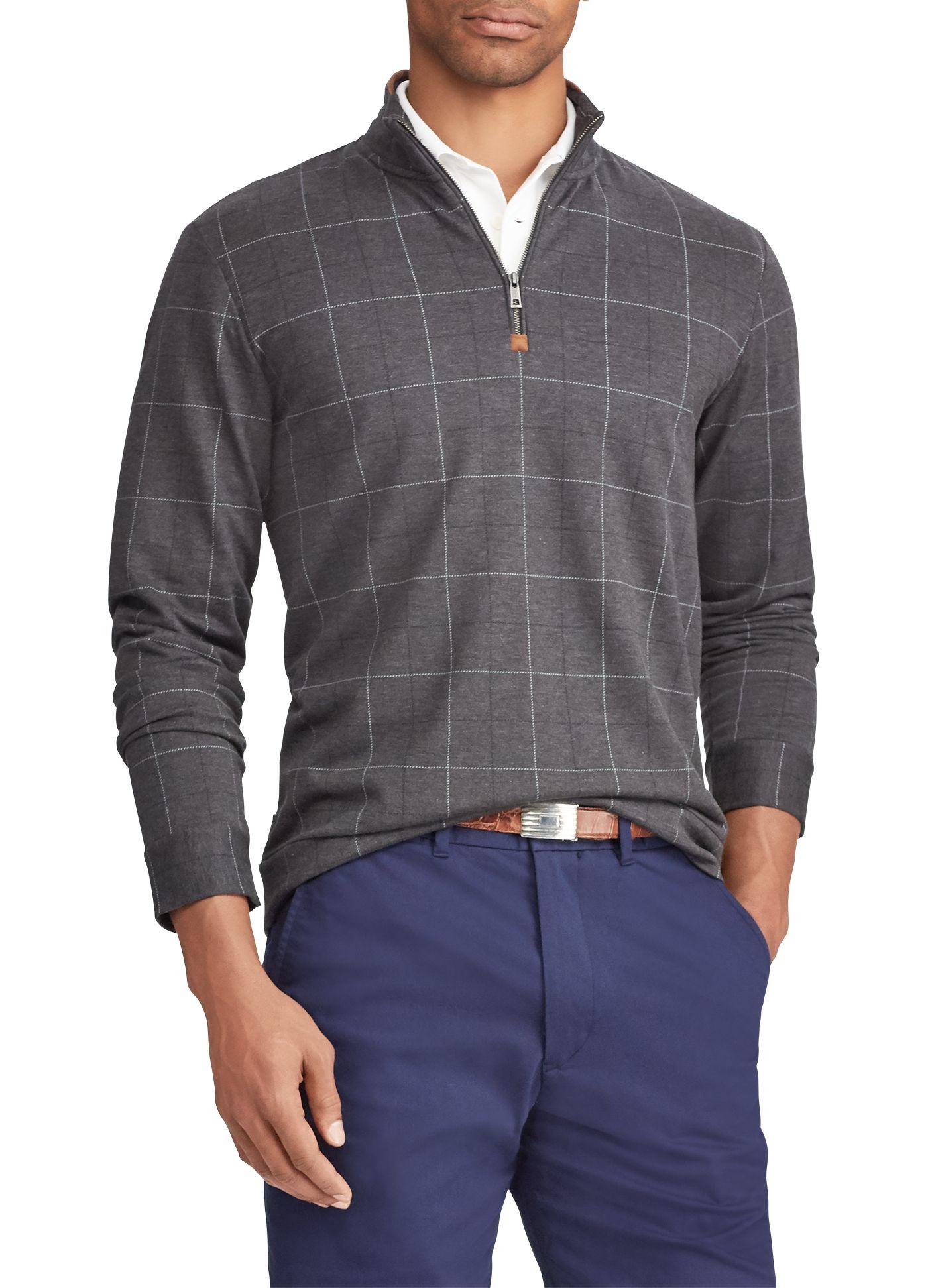 Polo Golf Men's Jacquard ¼ Zip Golf Pullover