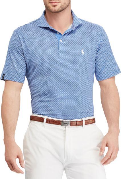Polo Golf Men's Geo Print Lux Jersey Golf Polo