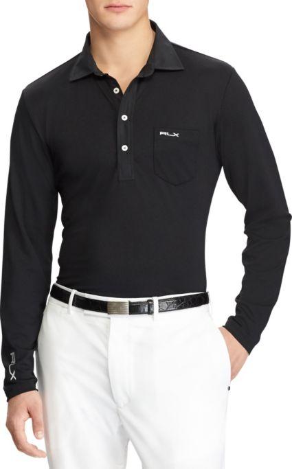RLX Golf Men's Long Sleeve Tech Pique Golf Polo