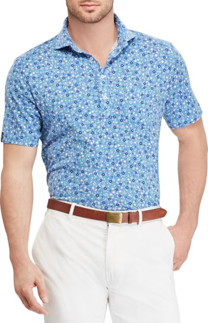 Polo Golf Men's Floral Print Lux Jersey Golf Polo