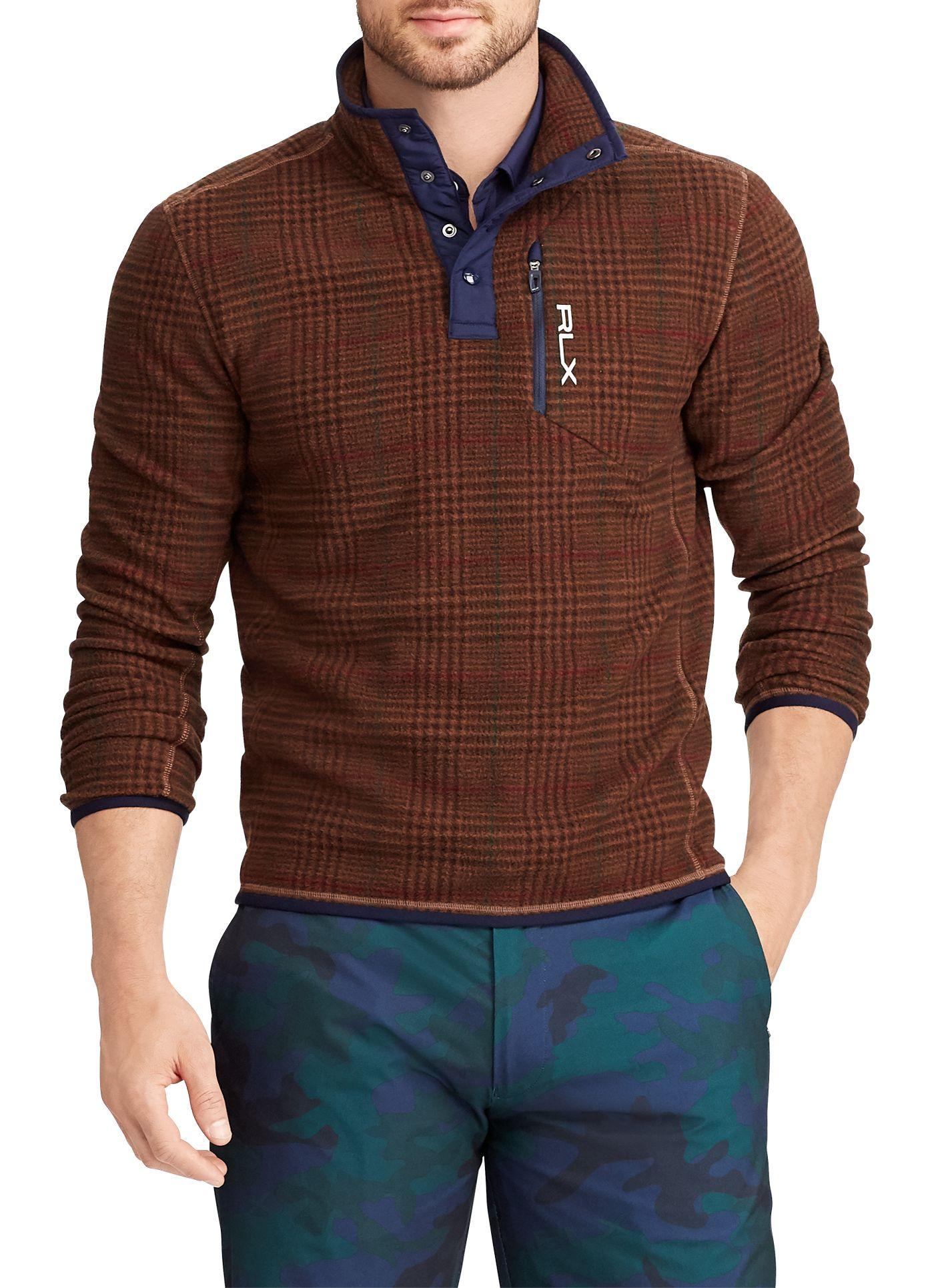 RLX Golf Men's Fleece Golf Pullover