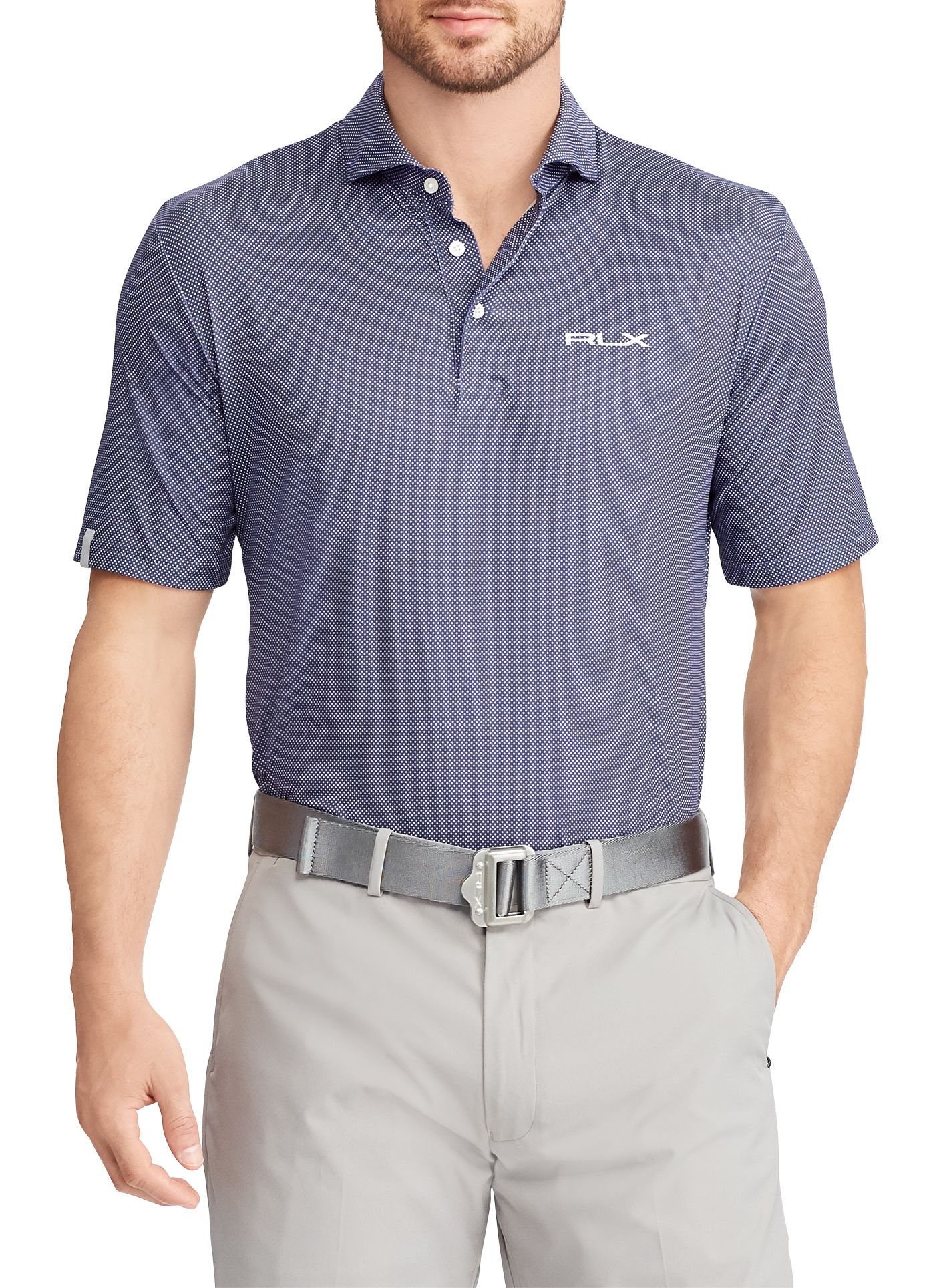 RLX Golf Men's Dot Airflow Golf Polo
