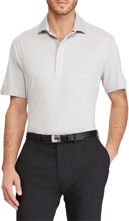 RLX Golf Men's Lightweight Striped Airflow Golf Polo
