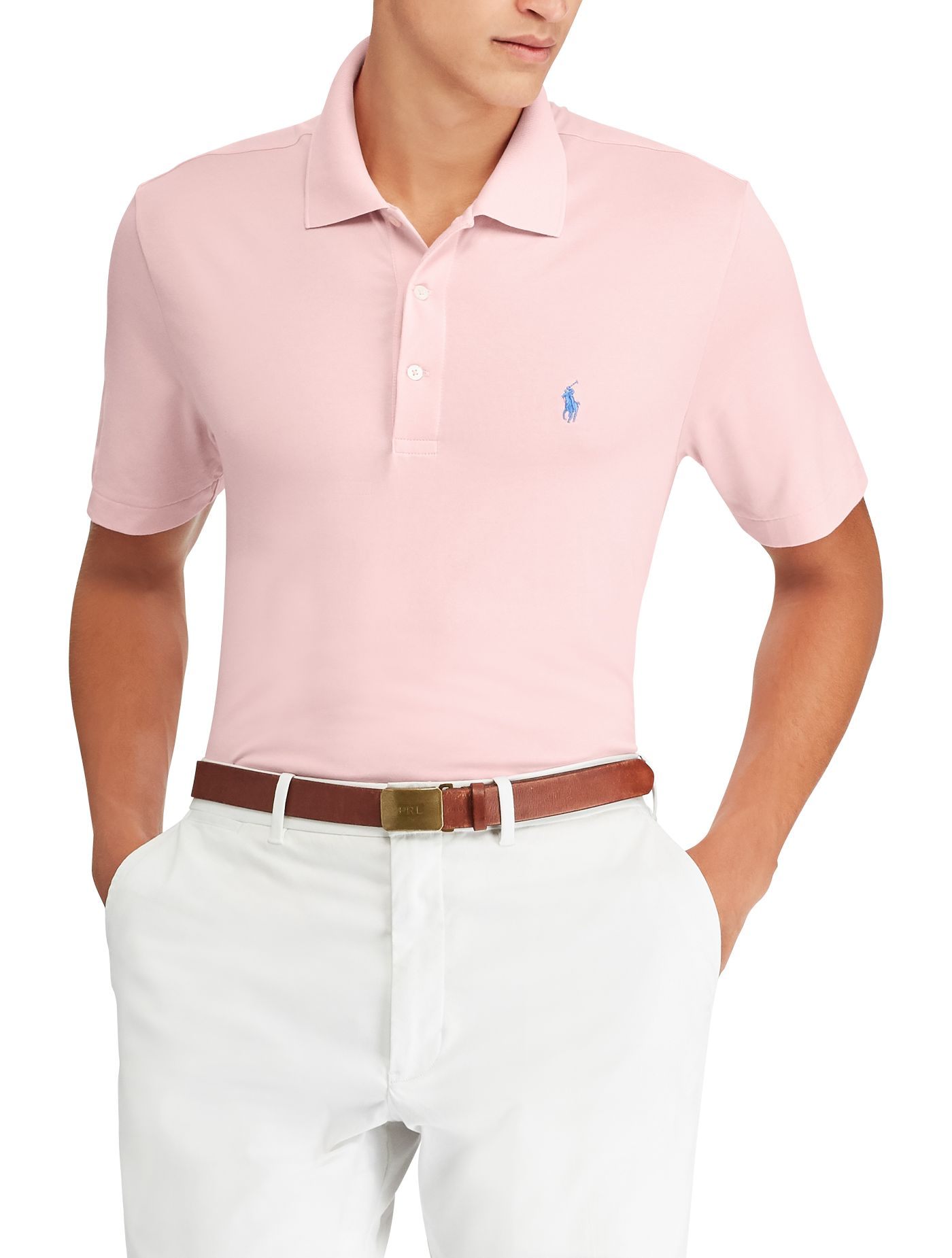 Polo Golf Men's Solid Performance Lisle Golf Polo