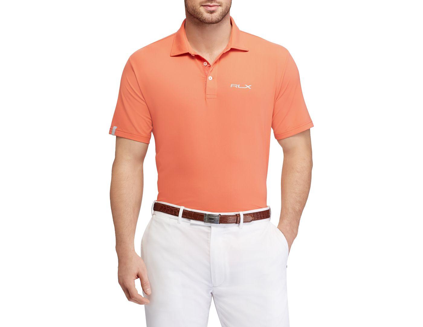 RLX Golf Men's Short Sleeve Solid Airflow Performance Golf Polo