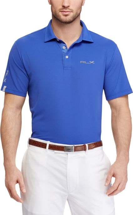 RLX Golf Men's Short Sleeve Solid Airflow Performance Golf Polo