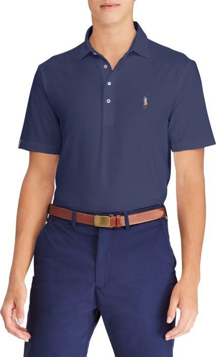 Polo Golf Men's Solid Vintage Lisle Golf Polo