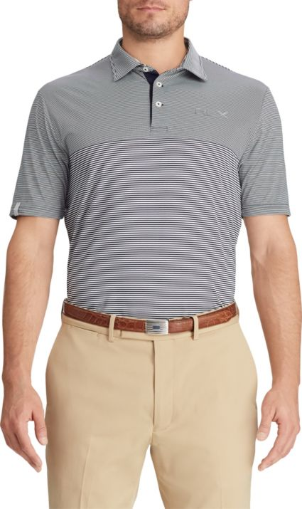 RLX Golf Men's Striped Airflow Jersey Golf Polo