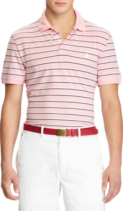Polo Golf Men's Striped Performance Golf Polo