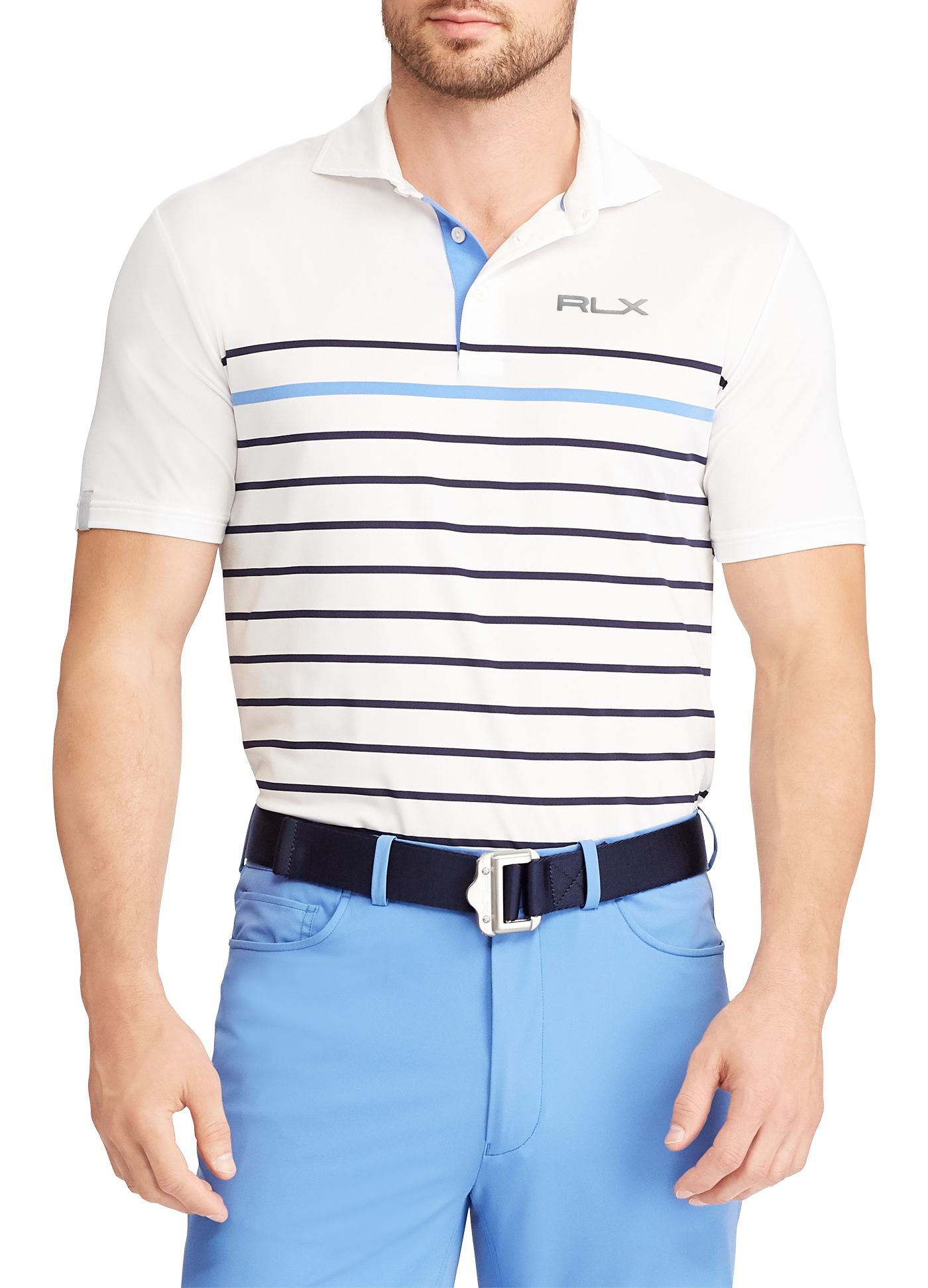 RLX Golf Men's Billy Horschel Striped Airflow Golf Polo