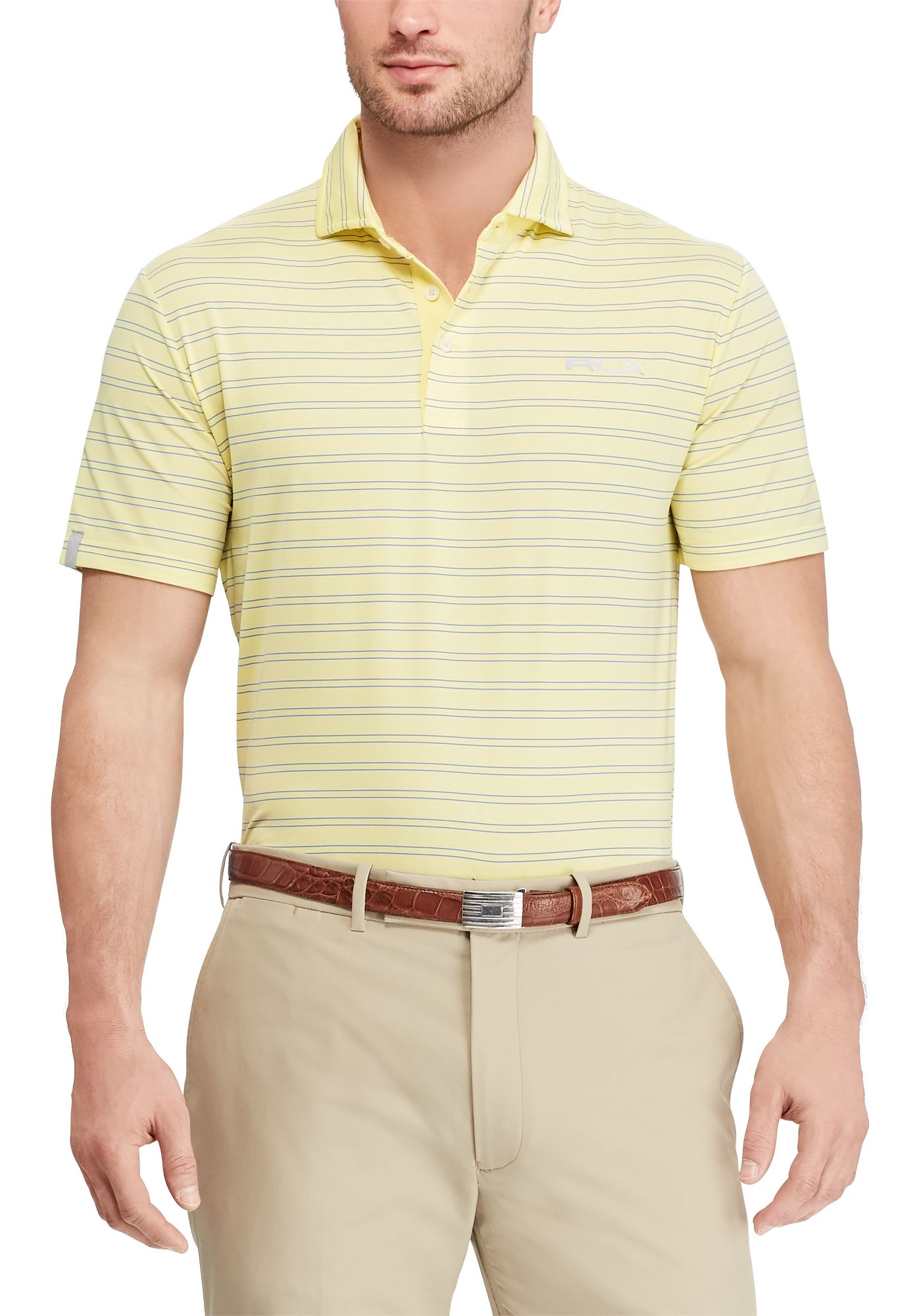 RLX Golf Men's Stripe Airflow Golf Polo