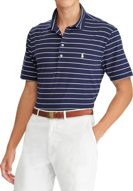 Polo Golf Men's Striped Vintage Lisle Golf Polo