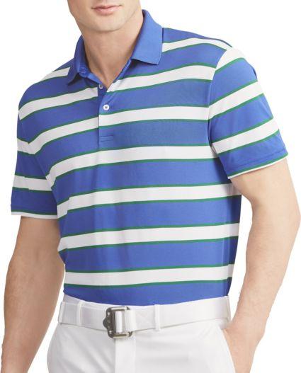 RLX Golf Men's Tech Pique Stripe Golf Polo
