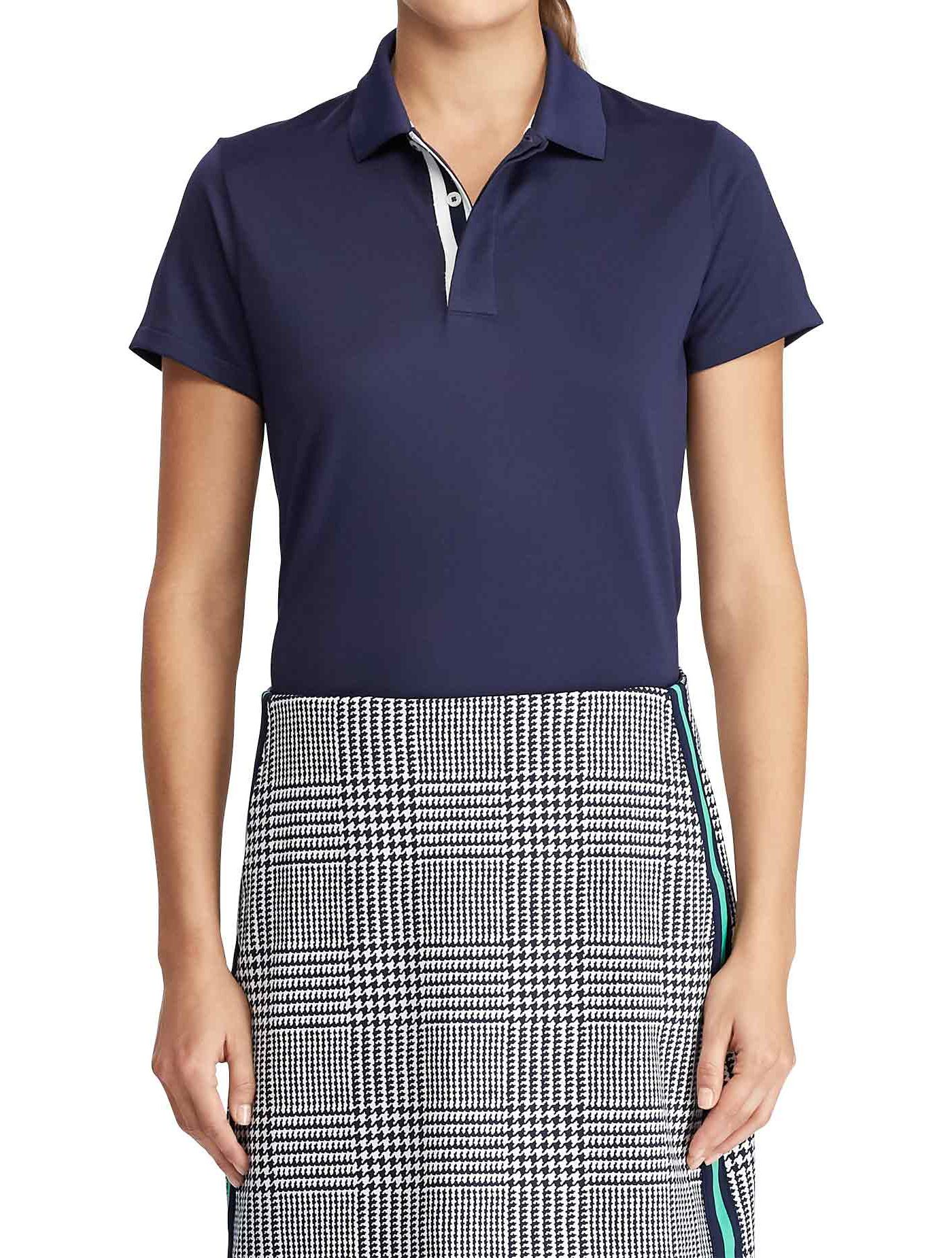 Ralph Lauren Women's Tailored Fit Jersey Golf Polo