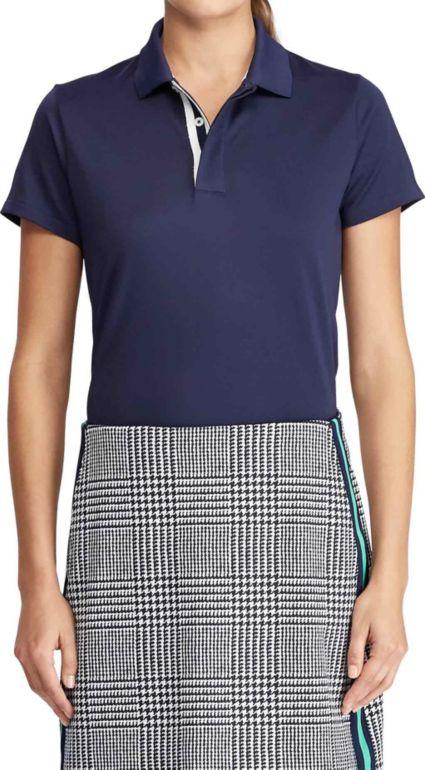 Ralph Lauren Women's Tailored Fit Jersey Golf Polo