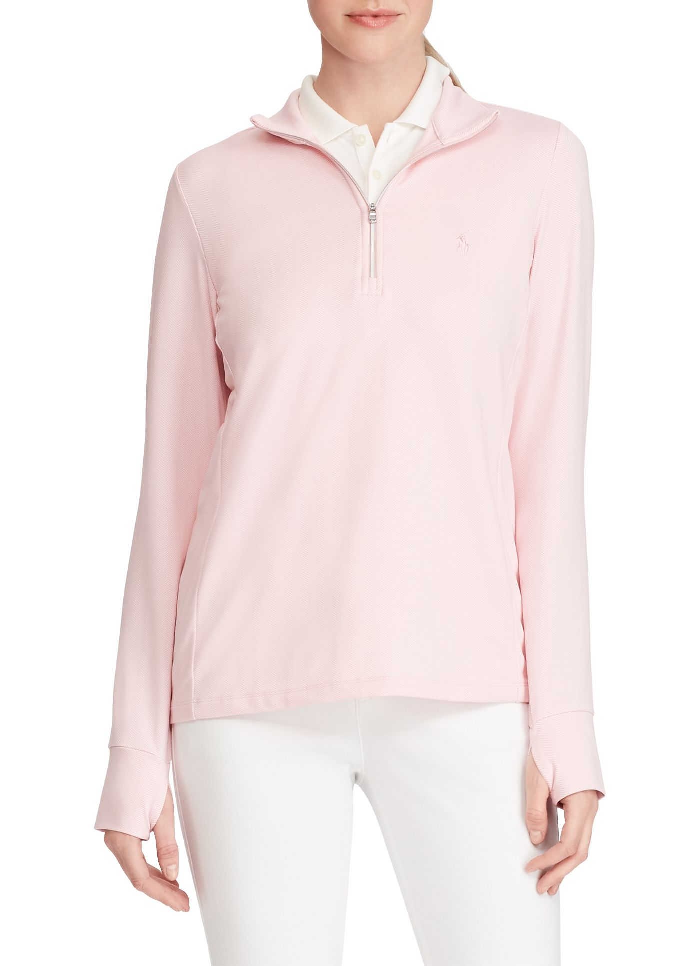 Ralph Lauren Golf Women's Herringbone Lisle Knit Golf ¼ Zip