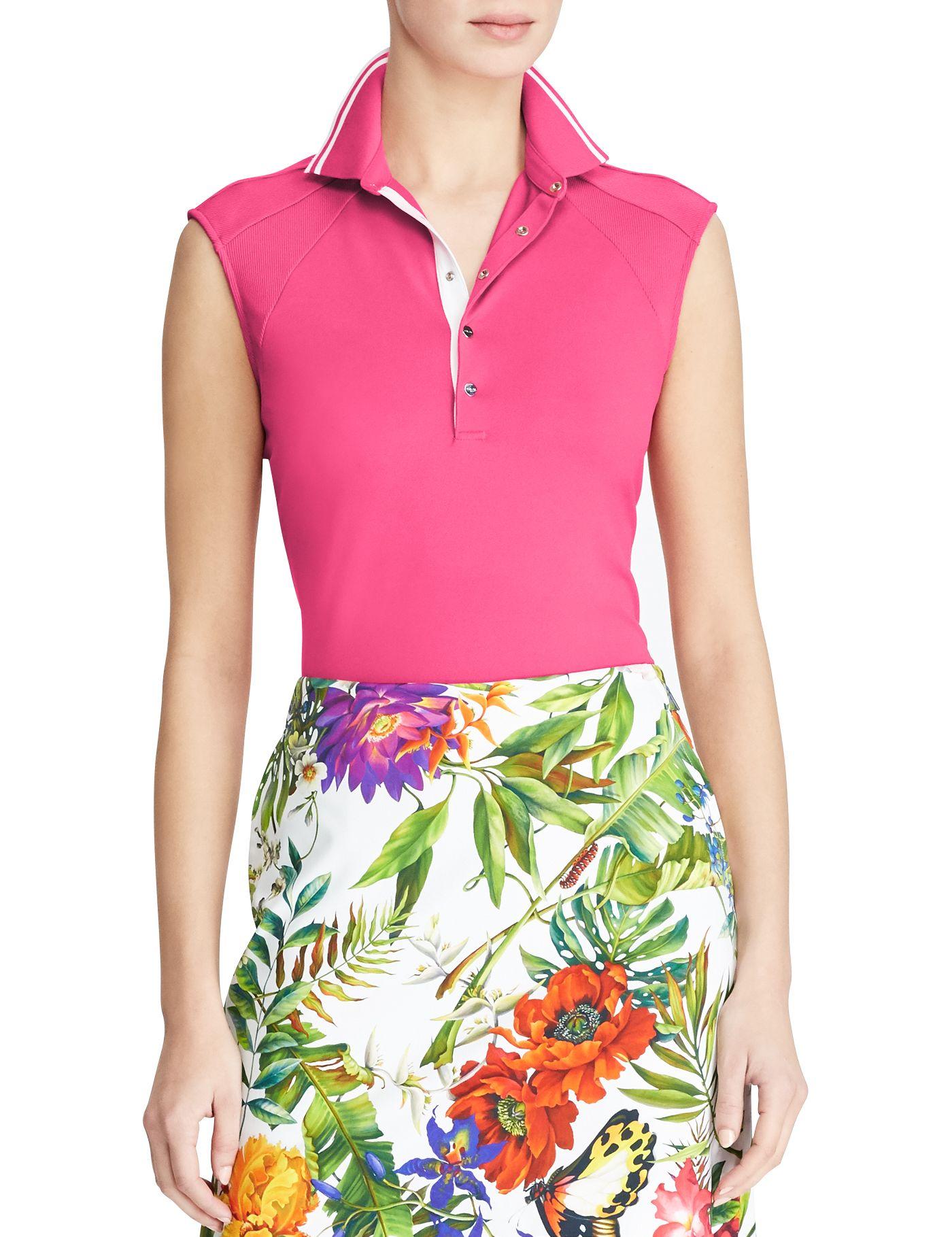 RLX Golf Women's Sleeveless Tailored Knit Golf Polo