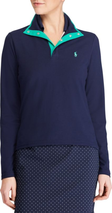 Ralph Lauren Golf Women's Jersey Mock Neck Golf Pullover